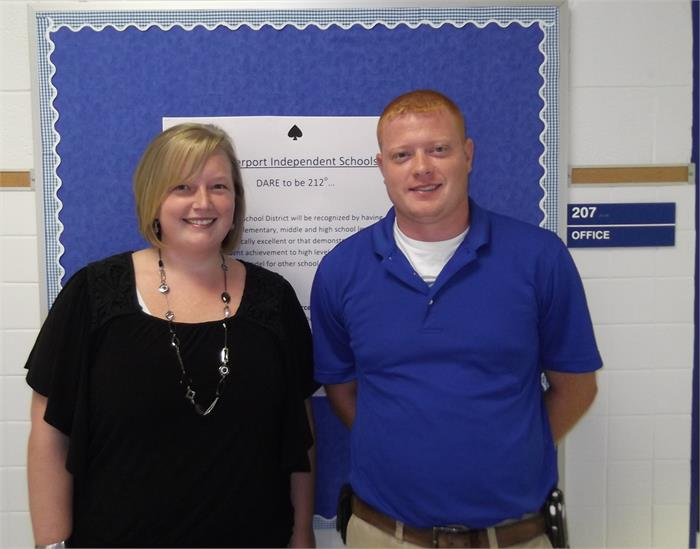 CISD Technology Staff Britney Hendrick-Chief Information Officer Nathan Moore-District Technology Coordinator